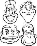 Whiteboard drawing - eccentric_people_heads Royalty Free Stock Images