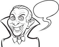 Whiteboard drawing - Vampire Halloween cartoon character Stock Photography