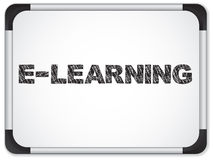 Whiteboard with E-learning Message Royalty Free Stock Photo