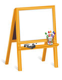 Whiteboard Easel with Markers Royalty Free Stock Photo