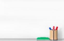 Whiteboard en blanco fotografía de archivo libre de regalías