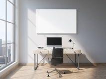 Whiteboard en oficina ilustración del vector