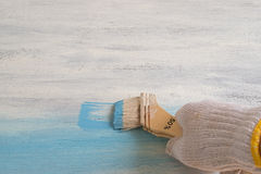 Whiteboard farba w błękitnym kolorze Obrazy Stock