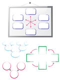 Whiteboard with flow charts Royalty Free Stock Photography
