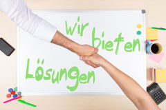 Whiteboard with german text Royalty Free Stock Image