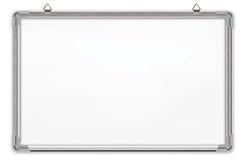 Whiteboard ha isolato su priorità bassa bianca Fotografie Stock