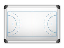 Whiteboard handball Royalty Free Stock Image