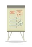 Whiteboard with Infographics. Royalty Free Stock Photos