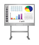 Whiteboard interativo Fotografia de Stock Royalty Free