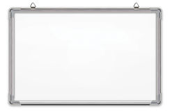Whiteboard isolated on white background Stock Photos