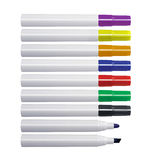 Whiteboard markers. Series of whiteboard markers, isolated on white background Stock Image