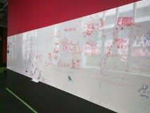 Whiteboard mit Gekritzeln Lizenzfreie Stockfotos