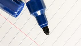 Whiteboard pen. On paper royalty free stock photo