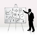 Whiteboard Presentation Royalty Free Stock Image