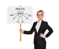Whiteboard with seo Stock Images