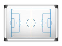 Whiteboard soccer Royalty Free Stock Image