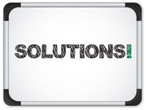 Whiteboard with Solutions Message Royalty Free Stock Images