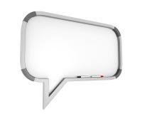 Whiteboard Speech Bubble Royalty Free Stock Image