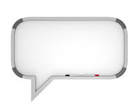 Whiteboard Speech Bubble Stock Photography