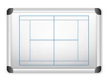 Whiteboard tennis Stock Images