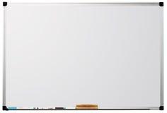 Whiteboard trennte auf weißem Hintergrund Stockbilder
