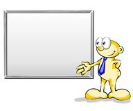 Whiteboard vazio Fotos de Stock Royalty Free