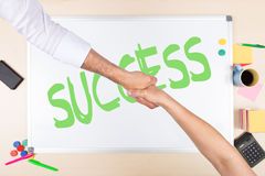 Whiteboard with word success Stock Images