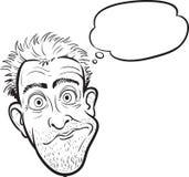 Whiteboard-Zeichnung - überraschter verrückter Mann lizenzfreie abbildung