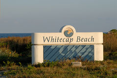 Whitecap beach Padre Island Stock Images