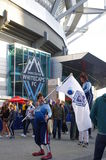 Whitecaps FC supporters in front of BC Stadium Stock Images