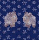Whitecaps on the snowflakes Stock Image