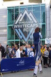Whitecaps supporters in front of BC Stadium Royalty Free Stock Photography