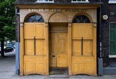 Whitechapel Bell Foundry premises in Whitechapel, London. Disused factory premises, once used by famous bell manufacturer. royalty free stock photo