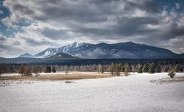 Whiteface berg i vintern arkivfoton