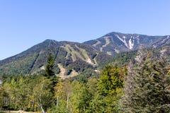 Whiteface Mountain in the Adirondacks of Upstate NY. Whiteface Mountain is one of the highest mountains in the Adirondacks at 4,867 feet. Located near Lake Stock Photo