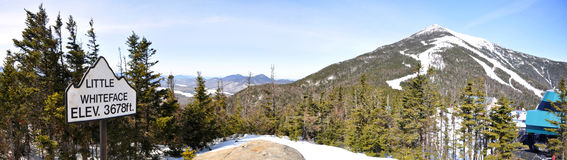Whiteface Mountain paronama in winter, Adirondacks Stock Photo