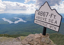 Whiteface Mountain summit Royalty Free Stock Images