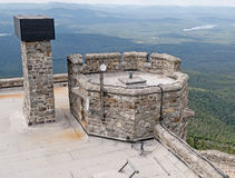 Whiteface Mountain top stone castle Royalty Free Stock Photography