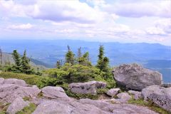 Whiteface Mountain, Wilmington, New York, United States. Scenic overlook view from the top of Whiteface Mountain, located in Wilmington, New York, United States stock image