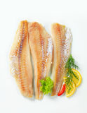 Whitefish fillets Stock Photography