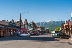 Whitefish main street view Royalty Free Stock Images