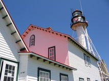 Whitefish Point Lighthouse. The Whitefish Point lighthouse on Lake Superior in Michigan. This was the nearest lighthouse to the wreck of the Edmund Firtzgerald Stock Photography
