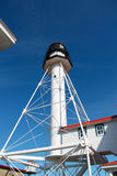 Whitefish Point Lighthouse. On a clear blue day in the U.P Stock Image