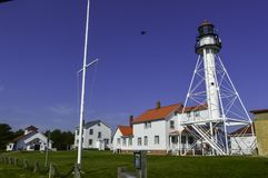 Shipwreck Museum. Whitefish point lighthouse and shipwreck museum. upper michigan Stock Photos