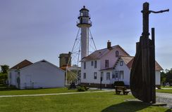 Shipwreck Museum. Whitefish point lighthouse and shipwreck museum. upper michigan Stock Photography