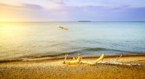 Whitefish Point, Michigan. Beach on Lake Superior in Whitefish Point, Michigan, Upper Peninsula Stock Photos