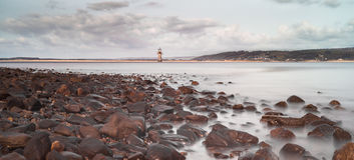 Whiteford lighthouse Royalty Free Stock Image