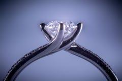 Whitegold diamentowy pierścionek Obraz Royalty Free
