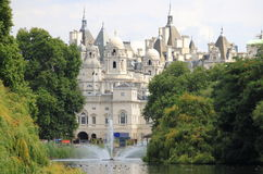 The Whitehall district from St. James Park in London Royalty Free Stock Images