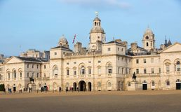 Whitehall, garde de cheval royale Palace Londres, R-U Image stock